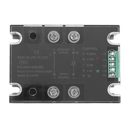 Relé de estado sólido, carcasa resistente a altas temperaturas, cubierta de plástico SSR monofásica, para controlador de temperatura del termostato PID(BEM-60-ZN-TY-220)