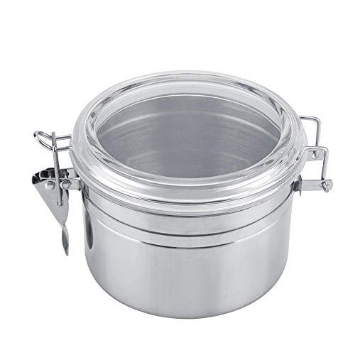 Mugast boite à café hermetique,boite de cereales,Cafetière en acier inoxydable, cuve de stockage en acier inoxydable, boîte de rangement,boîte de rangement des aliments(S(800ml))