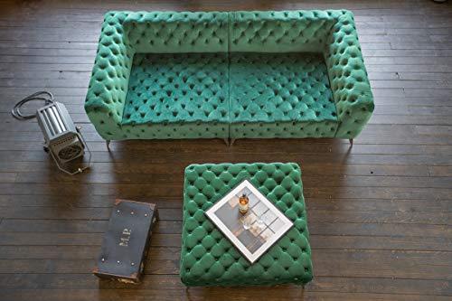 KAWOLA Big Sofa NARLA Sofa Velvet grün