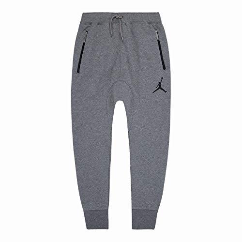 Jordan Nike Big Boy's Chi Town Jogger Fleece Sweatpants - Carbon Heather (Large)