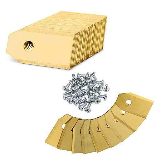 30x Titan Messer Klingen, Rasenroboter Messer für alle Husqvarna Automower, Gardena, Yardforce Mähroboter + 30 Schrauben