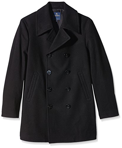 BROOKS BROTHERS Wool Pea Coat Abrigo, Azul (Navy 44), 56/XL para Hombre