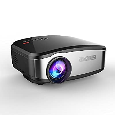 Cheerlux C6 Mini Projector Support Wifi Wireless Airplay, Screen Share with HDMI USB For Home Theater,TV