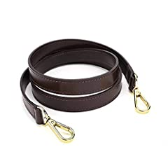 Dimension: Approximately 46 * 0.7 inches (length * width) Hardware: Good Gold hardware. Dark brown genuine leather - Make of the genuine leather which is comfortable and durable. Nylon bonded thread - nylon bonded thread is strong and durable.It prov...