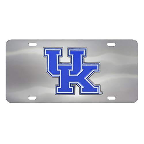 Kentucky Wildcats 3D Logo Chrome License Plate