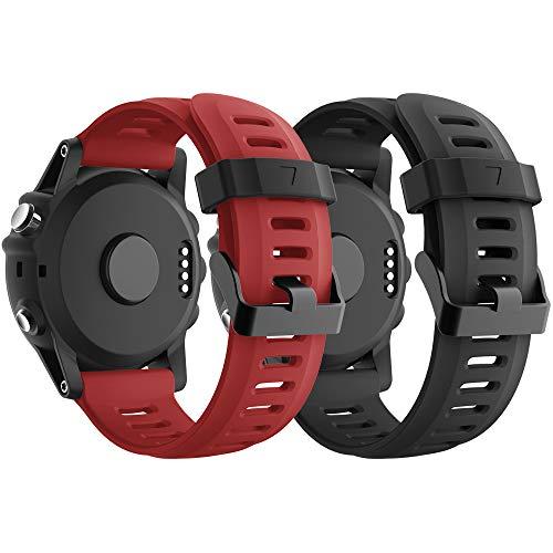 YPSNH Compatible para Garmin Fenix 3 Correa 26mm Suave Silicona Accesorio Fenix 5X Banda para Reloje Deportivos Correa de Repuesto para Fenix 3/Fenix 5X/Fenix 3 HR