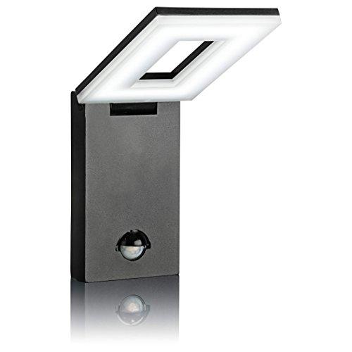 SEBSON® LED Aussenleuchte mit Bewegungsmelder, Wandleuchte, schwarz, Aluminium,12W, 650lm, kaltweiß 6500K, schwenkbar, IP54, Außenwandleuchte