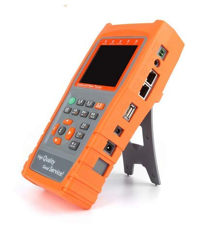 YXMSCMULTITEC UTP Kabeltester 3,5 Zoll LCD CVBS CCTV Tester Monitor AHD Kamera Testing PZ Control Adressscan, Datenüberwachung RS485 Taschenlampe
