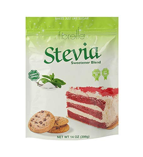 Fibrelle Fiber Rich Stevia Sweetener for Baking, Best and Healthy Sugar Substitute for Cakes, Coffee and Tea, Good for Digestion Low Calorie and Diabetic Friendly