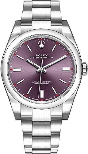 Rolex Oyster Perpetual 39 Red Grape Dial Stainless...