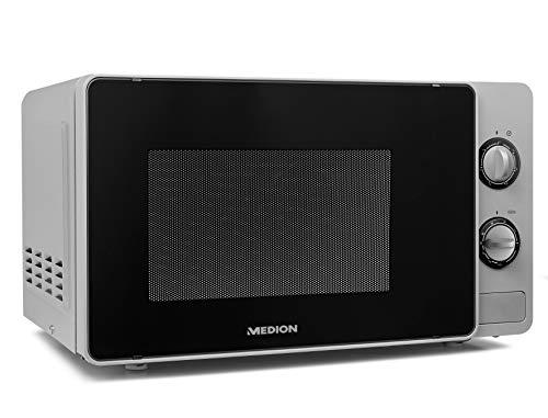 Medion MD18691 - Microonde con grill, 800 W, 20 litri, funzione scongelamento, colore: Bianco