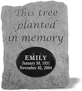 Kay Berry 52120 This tree planted...Urn with Marble Oval