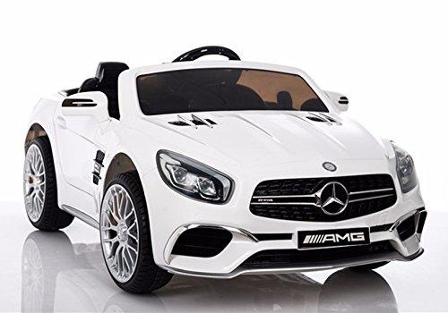 Coche Mercedes AMG 12V, Blanco - RC, SL65 - con Pantalla MP4