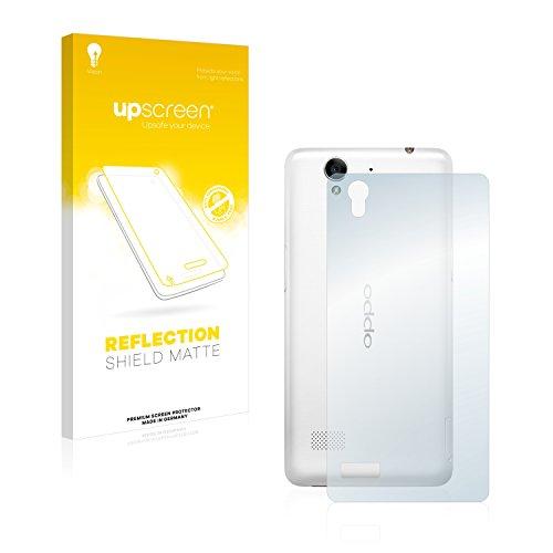 upscreen Entspiegelungs-Schutzfolie kompatibel mit Oppo Mirror 5s (Rückseite) – Anti-Reflex Bildschirmschutz-Folie Matt