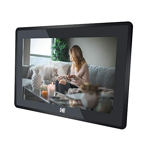Kodak 10-Inch Touch Screen Digital Picture Frame, Wi-Fi Enabled with HD Photo Display and Music/Video Support Plus Clock, Calendar, Weather and Location Updates (RCF-106) - Matte Black Materials Presentation Storage