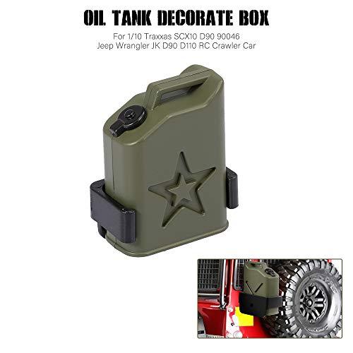 Goolsky Öltank-Verzierungsbox für 1/10 Traxxas Redcat RC4WD Axial SCX10 D90 90046 Jeep Wrangler JK D90 D110 RC Crawler Car