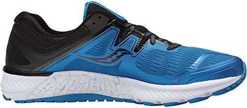 Saucony Men's Guide ISO Running Shoe, Blue/Black, 8 Medium US