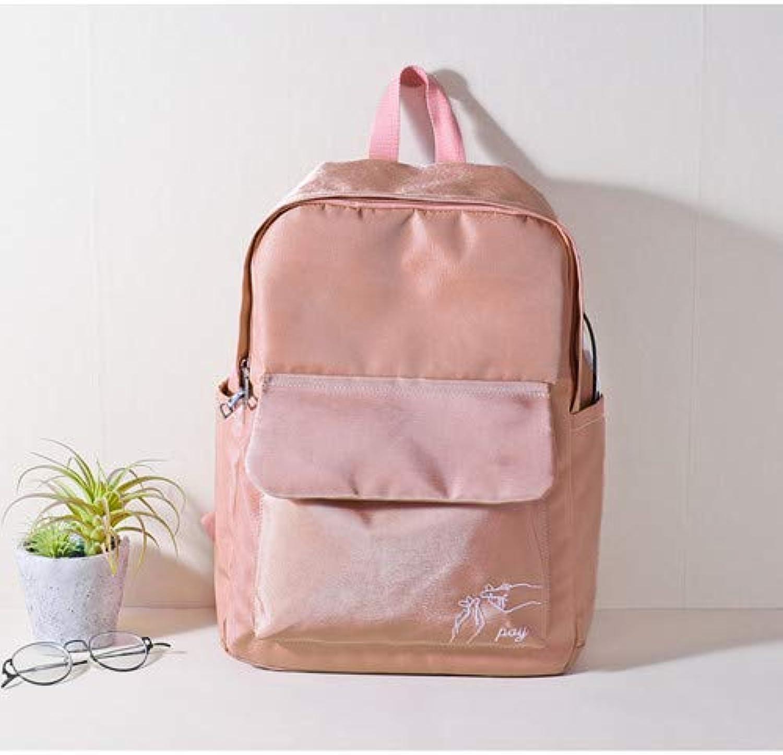 Schoolbag Schoolbag Schoolbag Fsweeth Harajuku Double Shoulder Bag Female Bag Student Taschen hoch 40 cm 32 cm 11 cm, Dicke Rosa B07HCKTPNK  Mode dynamisch 6194a7