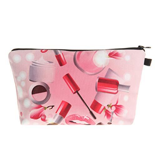 Clyine Women's Creative Cosmetics Printing Cosmetic Bag Convenient Clutch Bag Waterproof Storage Bag