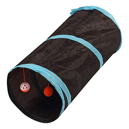 YFFSBBGSDK Túnel para Gatos y Perros Túnel para Gatos y Mascotas Divertido Tubo de Juego de 2 Orificios Bola Plegable Arrugas Gatito Juguete Cachorro Hurón Conejo Jugar...