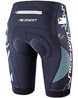 NICEWIN Men's Cycling Shorts Motorcycle Bike Riding Tights 3D Padded Quick-Dry Half Pants Gray M