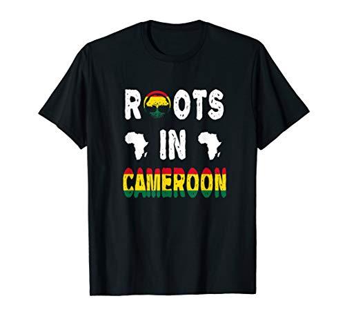 Cameroon African Diaspora Ancestry DNA Roots Africa Map T-Shirt