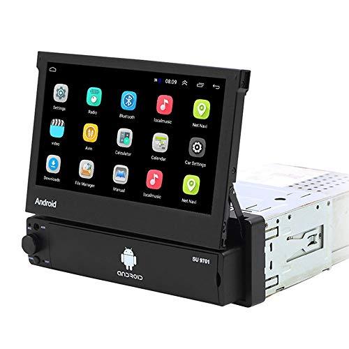 Android Autoradio 1 Din GPS CAMECHO 7 pollici estraibile Touchscreen capacitivo Bluetooth FM Radio WiFi Navigazione Mirror Link per telefono Android iOS