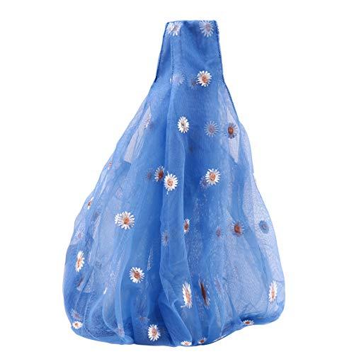 LLZIYAN Flores Bolso Bohemio Monedero Margarita Mujer Bolso de Mano Monedero,Azul Marino