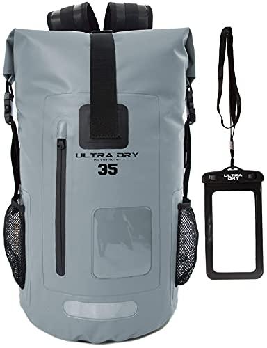Zaino impermeabile da 35 l, ideale per barca, kayak, escursionismo, canoa, pesca, rafting, nuoto, campeggio, snowboard