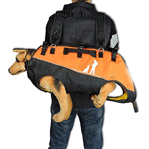 HUWENJUN123 Trasportino per Cani Zaino per Cani, Zaino per Cani Regolabile Frontale per Cani Anziani, lesioni alle articolazioni, artrite