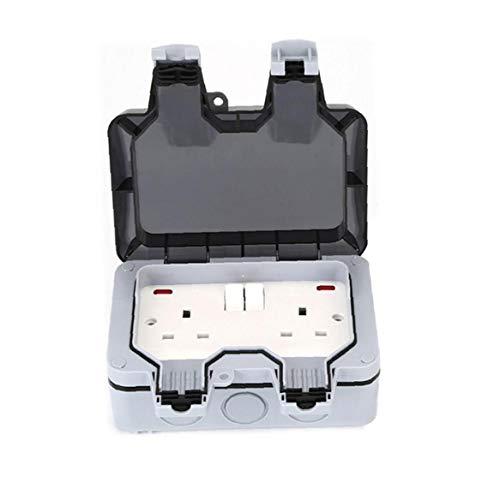 NaiCasy Enchufes Exterior Toma eléctrica Caja Exterior IP66 a Prueba de Agua Toma eléctrica Box enchufes eléctricos