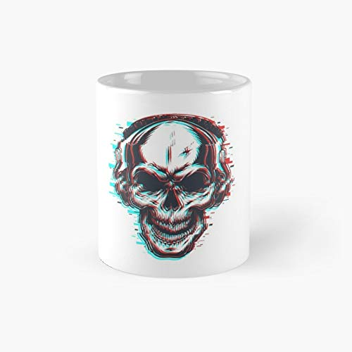 3d Halloween Skull Music Holographic Trippy T-shirts Stickers Masks Pillow Classic Mug | Best Gift Funny Coffee Mugs 11 Oz