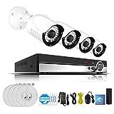 Lvreby 5MP Video Surveillance Kit H. 265 Home Sistema de cámara CCTV inalámbrica NVR Set WiFi cámara de Seguridad IR P2P App View,4CH