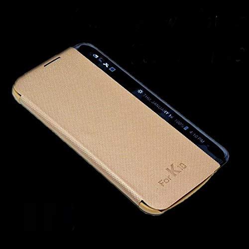 QAWACHH® Smart Flip Cover for Lg K10 2016 (Model no. -Lg K420) Gold