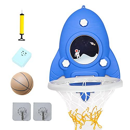 Wendao Mini aro de baloncesto portátil con altura ajustable sin perforaciones para niños
