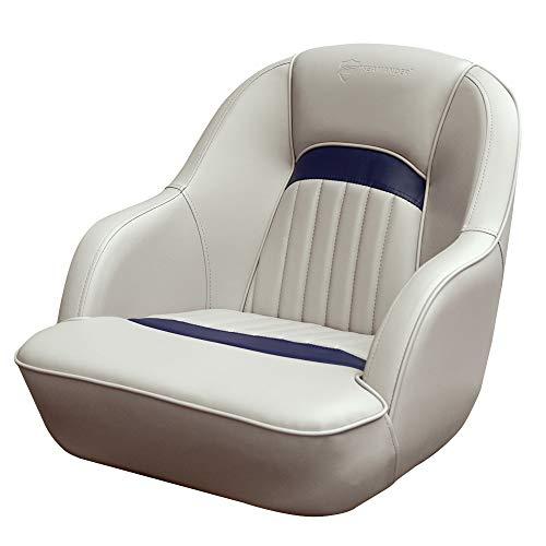 Seamander Captains Chair Pontoon Boat seat -S1040 Series (Ivory/Navy Blue)
