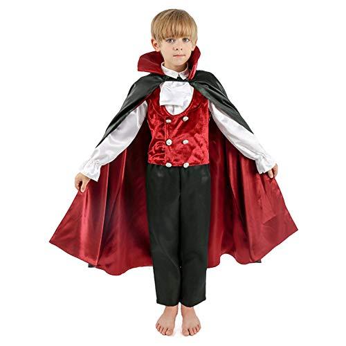 Disfraz de Vampiro Infantil de Halloween Juego de Maquillaje para Fiestas para Niños de 3 a 8 Años