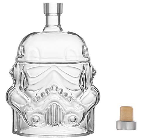 JUSSES Karaffe Whisky Dekanter aus Glas Karaffe Whisky Glas