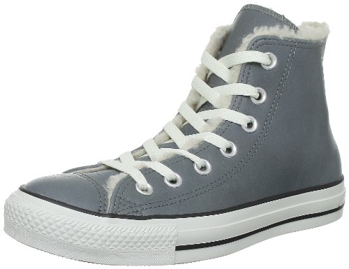 Converse Chuck Taylor All Star Leather Shearl 236360, Unisex-Erwachsene Sneaker, Grau (Grau), 37 EU
