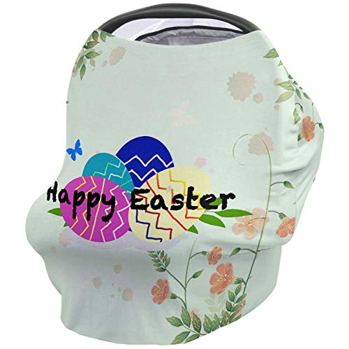 Best Prices! Breastfeeding Nursing Cover Multi Use for Baby Car Seat Happy Easter Eggs Stretchy Brea...