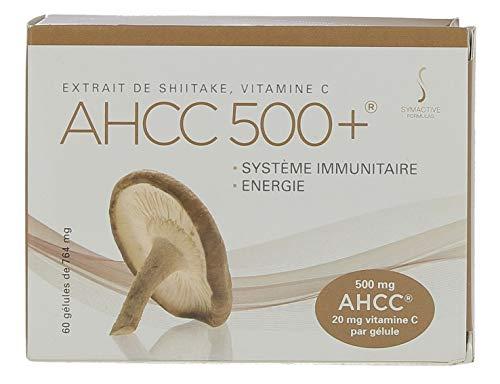 VF BioScience Symactive AHCC 500+, 764°mg (einschließlich 500°mg AHCC und 20°mg Vitamin C), 60 pflanzliche Kapseln