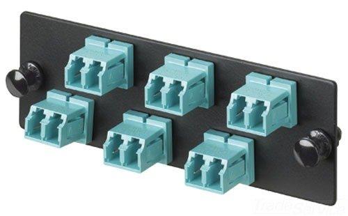 Panduit FAP12WBUDLCZ Single-Mode 12-Port Fiber Adapter Panel with Zirconia Ceramic Split Sleeve, Blue
