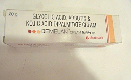 glenmark 1 Demelan Cream Glycolic Acid Arbutin, Kojic Acid -Hyper Pigmentation 20g Skin 1x
