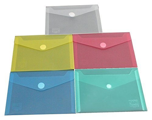 exxo by HFP para documentos con (cierre de velcro, A6horizontal, 10unidades), color varios colores 160 mm x 120 mm
