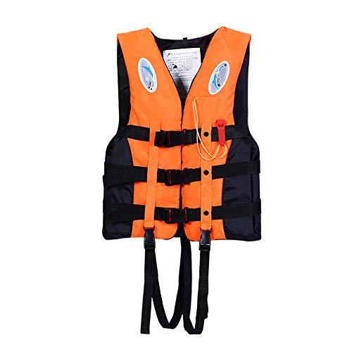 Schwimmweste verdickt Kinderschwimmweste Schwimmweste Boot Schwimmweste Schwimm Tarierweste,Orange,XS
