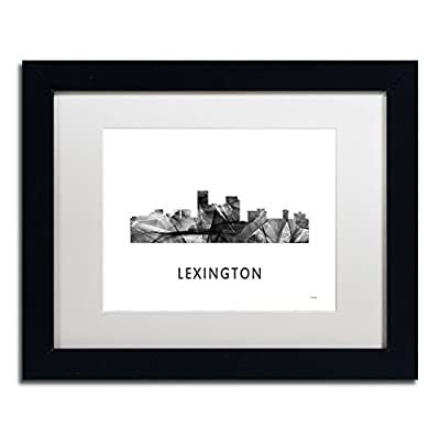Trademark Fine Art MW0451-B1114MF Lexington Kentucky Skyline WB-BW by Marlene Watson
