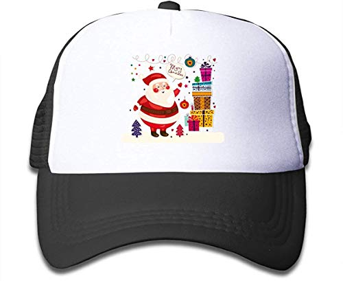 kaifaquqiaoqibaihuodian Christmas Santa Claus Sun Mesh Back Cap Trucker Baseball Hats for Girls Black Fashion11092