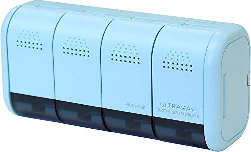 MEDIK 歯ブラシ除菌器 4本収納可 小型 壁掛け式 ミント MDK-TS04 MINT