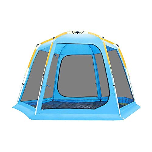 LYYJIAJU Camping Tent, Quick-Opening Tents Family Backpacking Camping Tents Sun Shelter for People Doors On Portable Outdoor Picnic Tent UV Protection Ventilated Durable