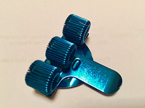 1x portapenne triplo in acciaio inossidabile con clip da tasca, ideale per infermieri e medici, colore blu